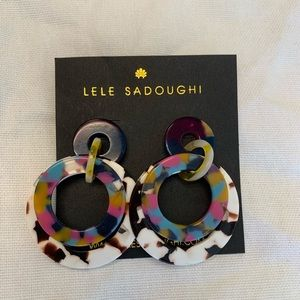 Lele Sadoughi Double Ring Hoop Earrings - new!!